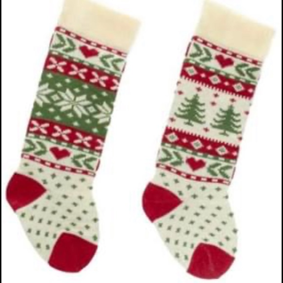 KURT ADLER NWT 2pc knit Christmas stockings